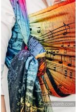 LennyLamb Geweven draagdoek LennyLamb Symphony Rainbow Dark