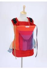 Huurproducten Huurproduct peuter/kleuter draagzak Wompat Preschool Earthy Rainbow Red