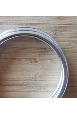Slingringen maat XL glimmend zilver