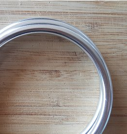 Slingringen XL glimmend zilver