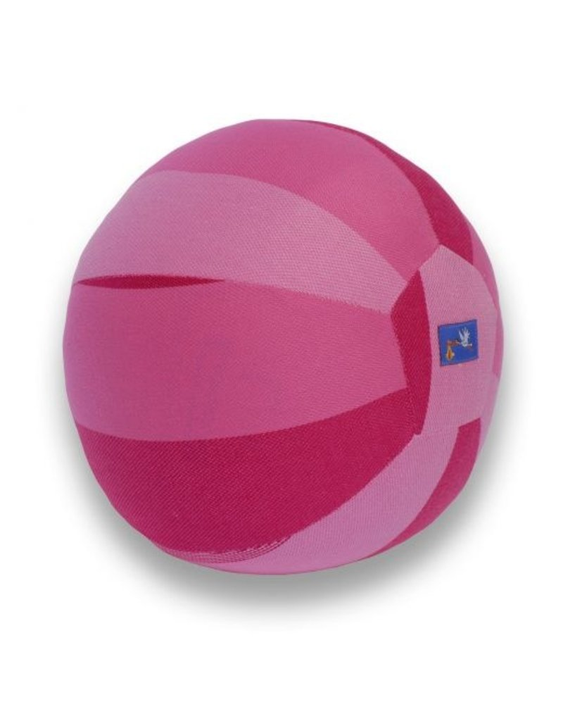 Hoppediz Hoppediz ballonbal roze van draagdoekenstof