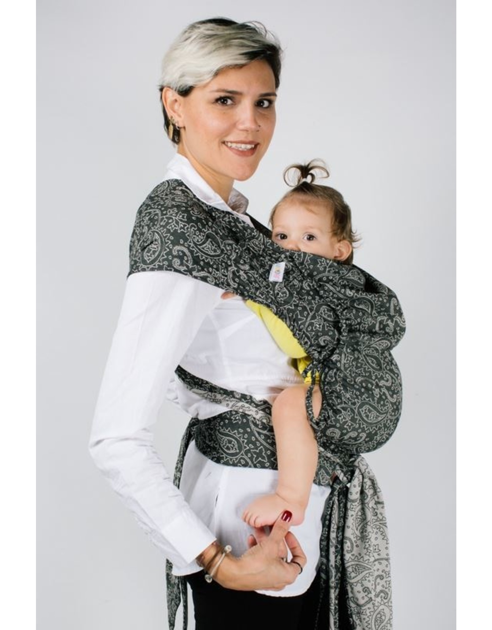 Neko Meh Dai babydraagzak Neko Tai Baby Efes Paisley Hazel Dark