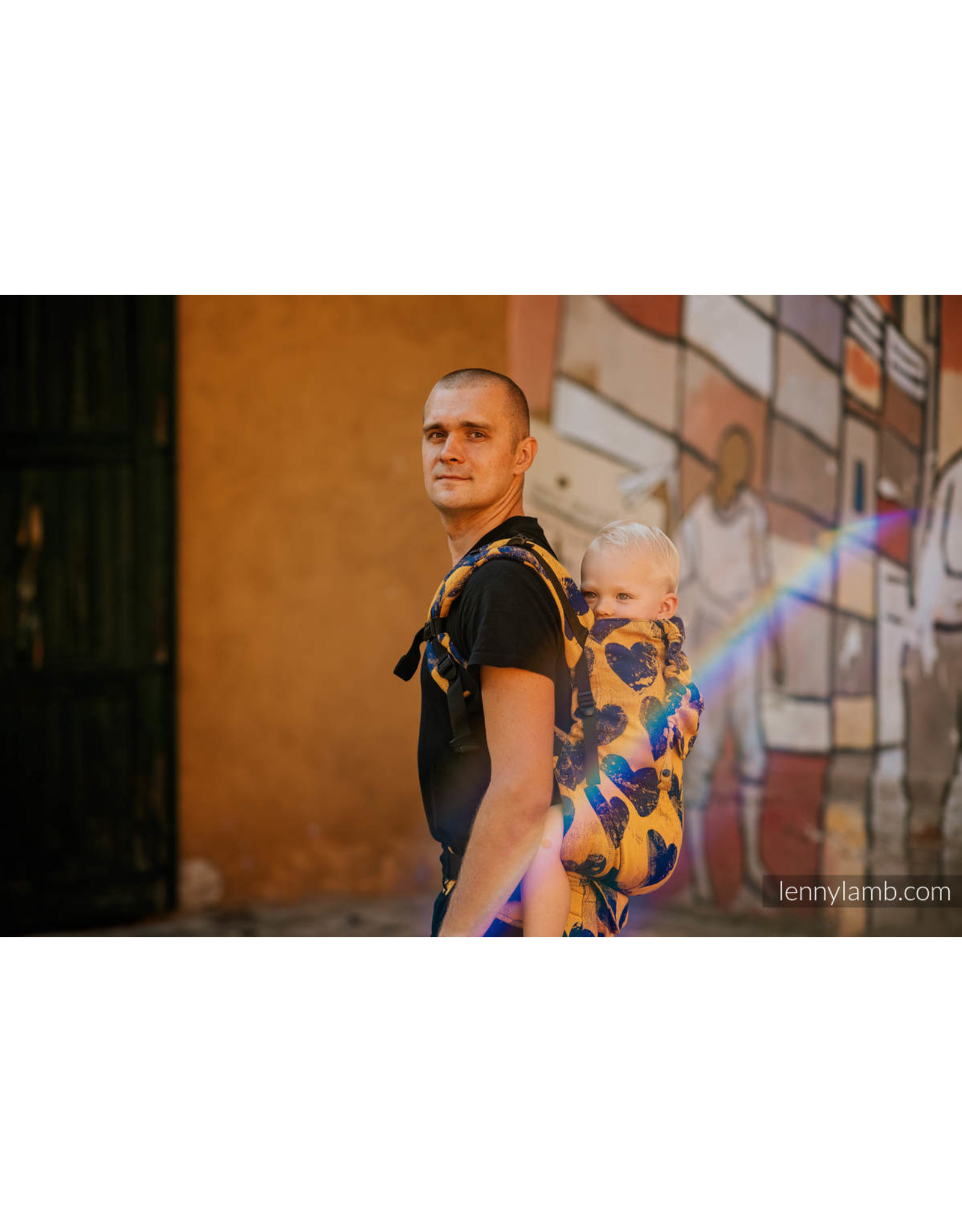 LennyLamb LennyLamb draagzak LennyPreschool Lovka Mustard & Navy Blue