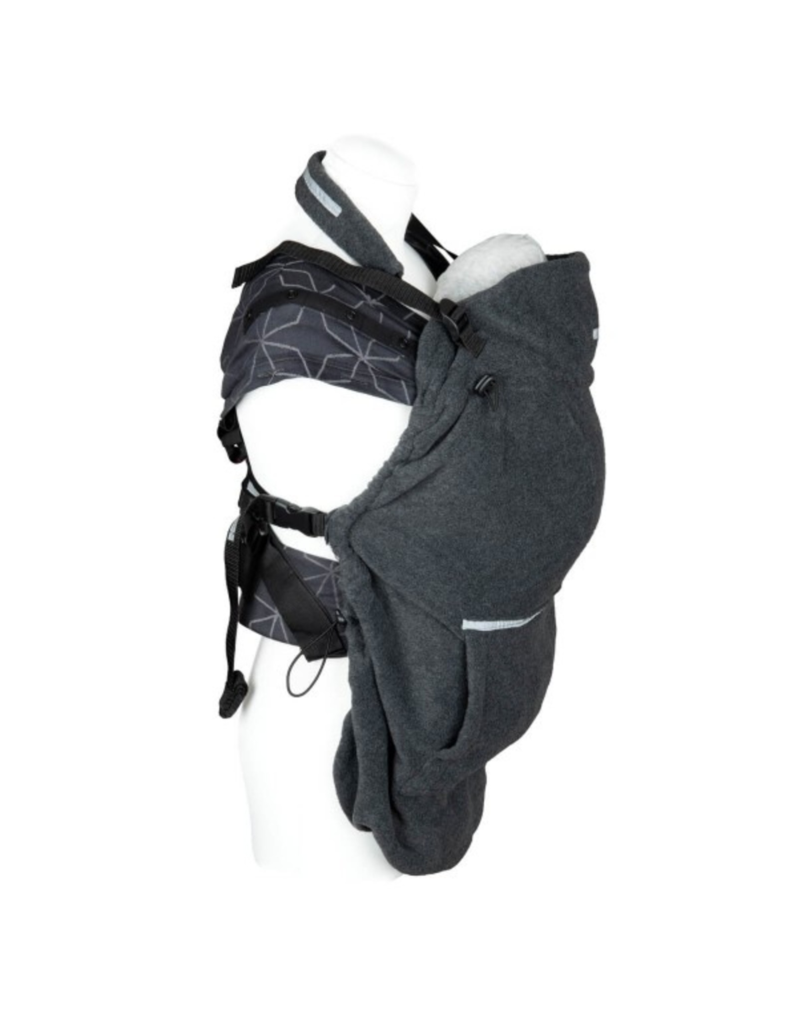 Hoppediz Grijze fleece draagcover van Hoppediz
