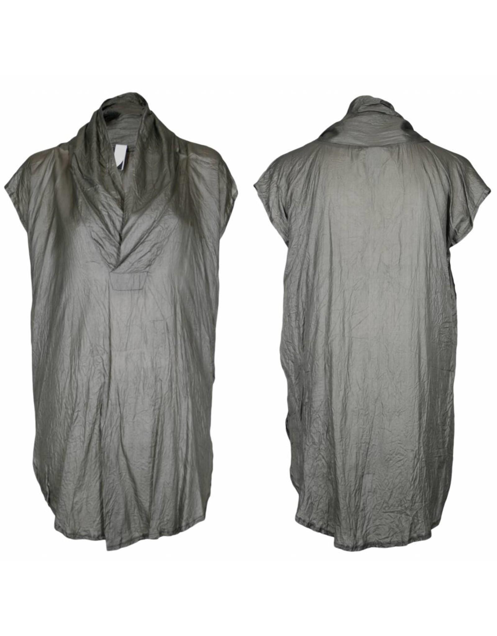 format TOAT dressblouse, ahimsa, silver black L