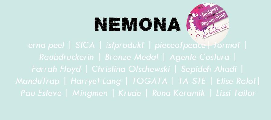 NEMONA POP UP 11-12 2016