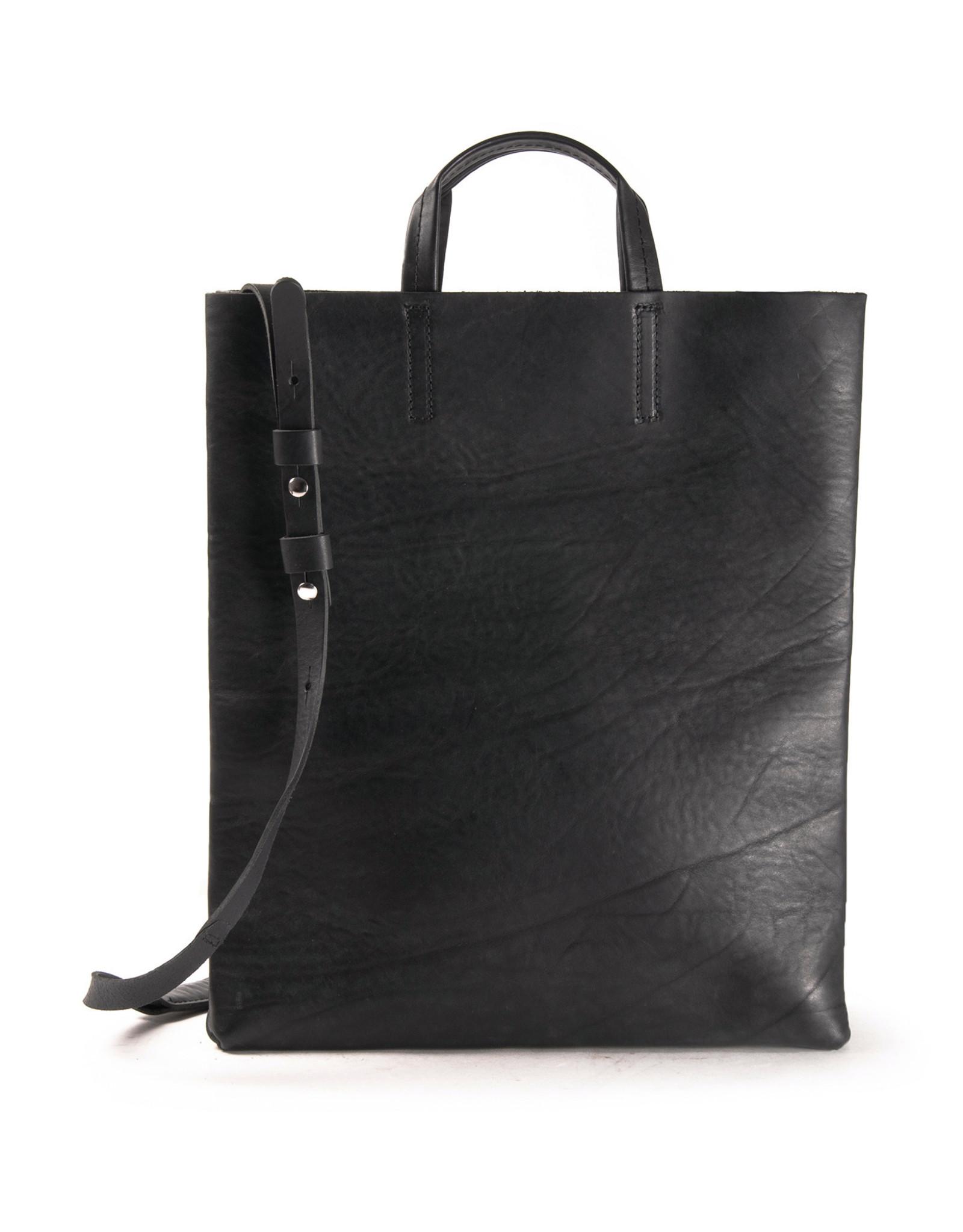 Harold's Leather paper bag with shoulder strap