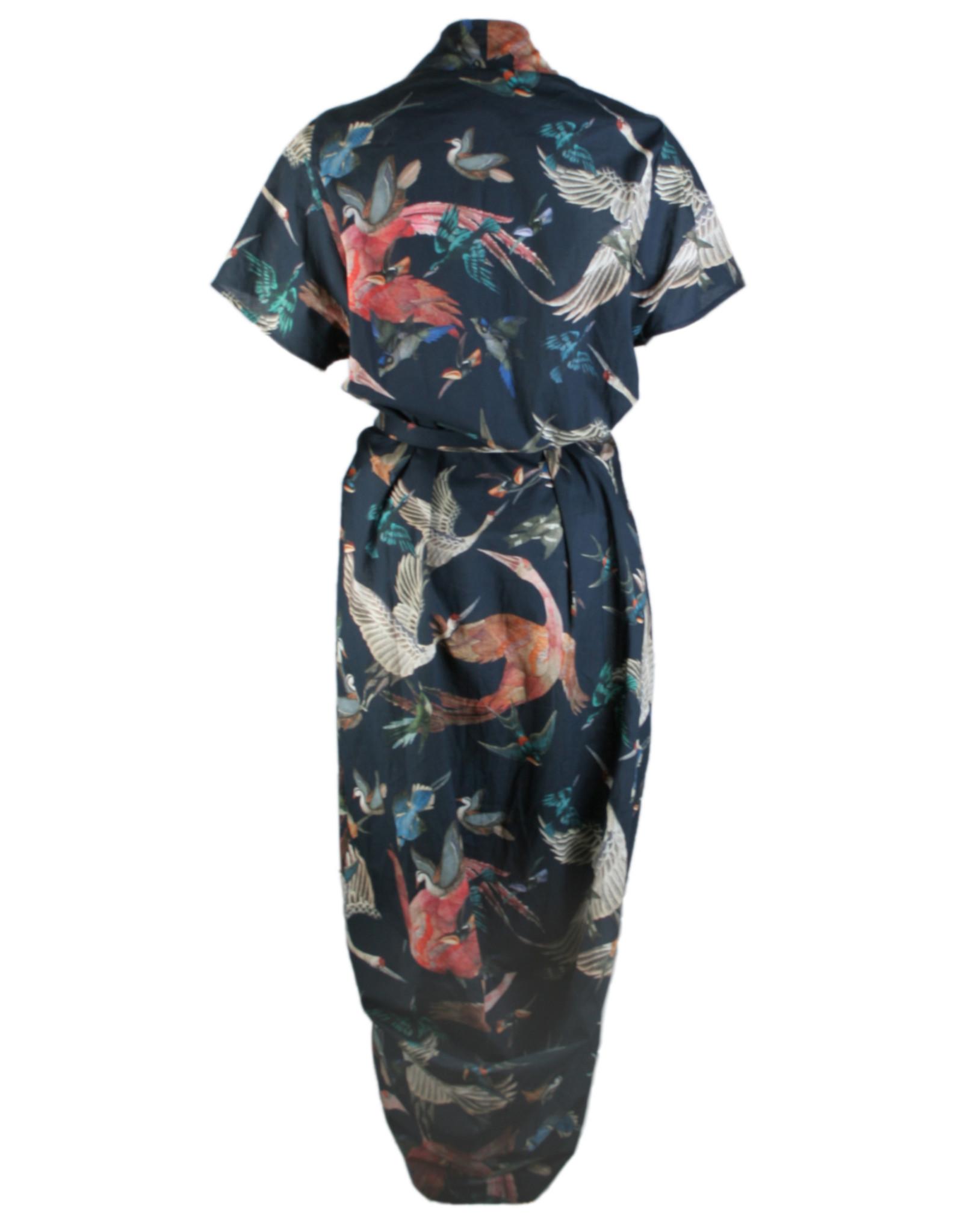 format SAGE dress, plain cotton