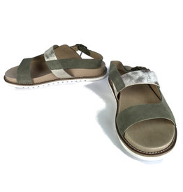 Ten Points Sandra sandals green, gold