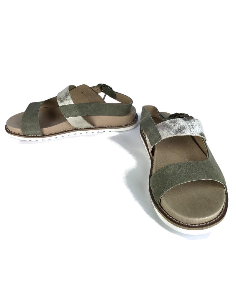 Ten Points Sandra sandals green, gold