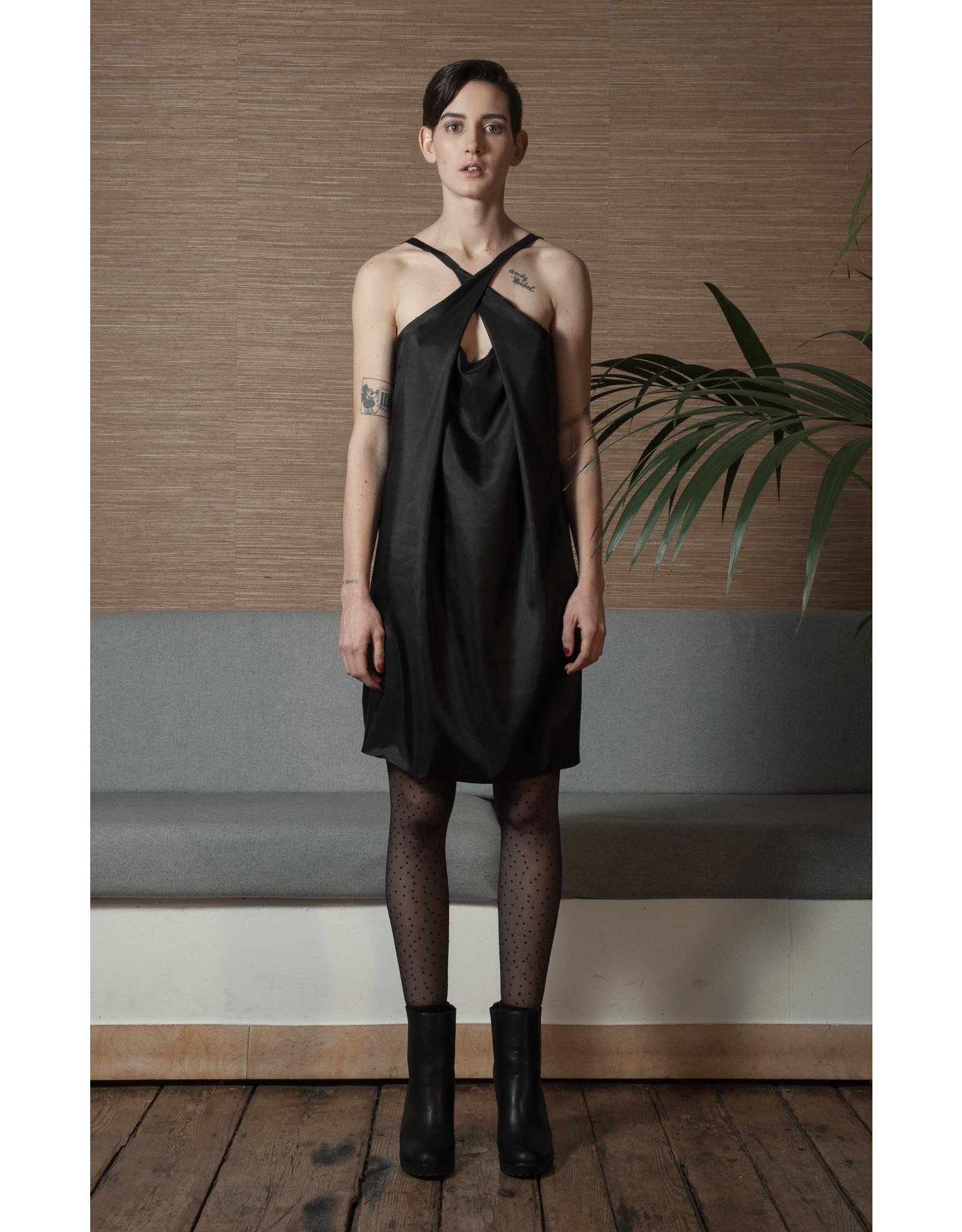 format PLOT dress black silk