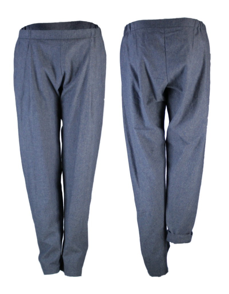 format COSY II pants, Cotton-Hemp Denim