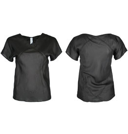 format KWAD blouse, black silk
