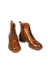 Ten Points laced boots, Pandora, cognac