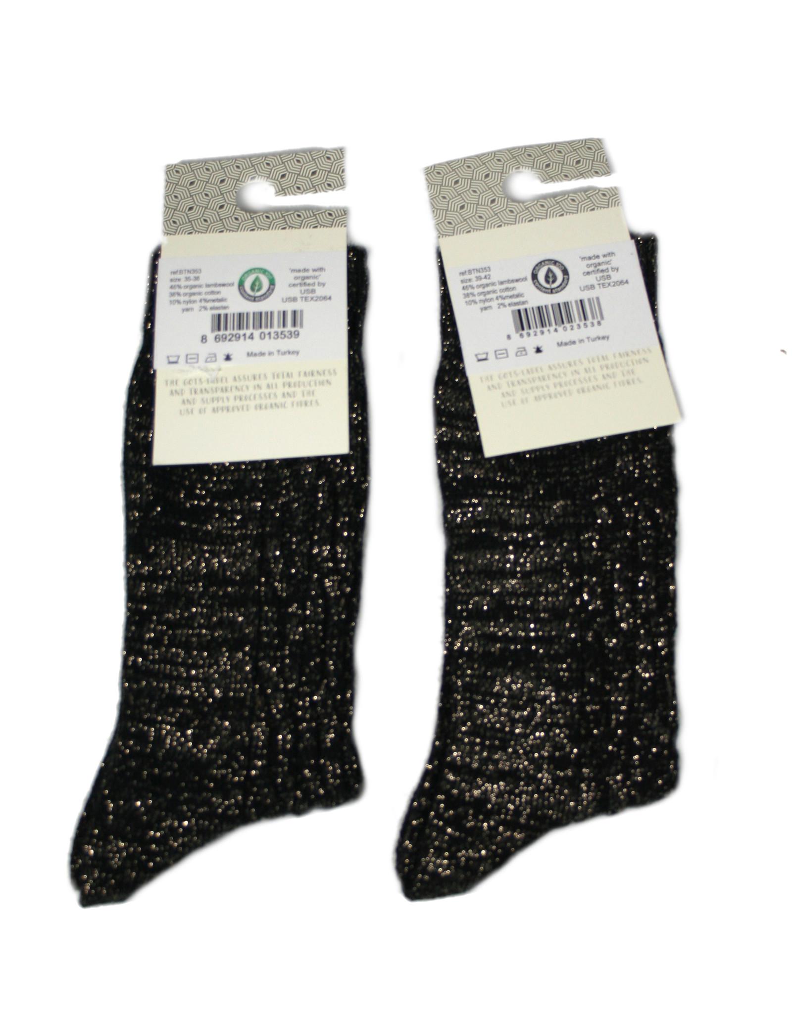 bls organic socks Glitzersocken