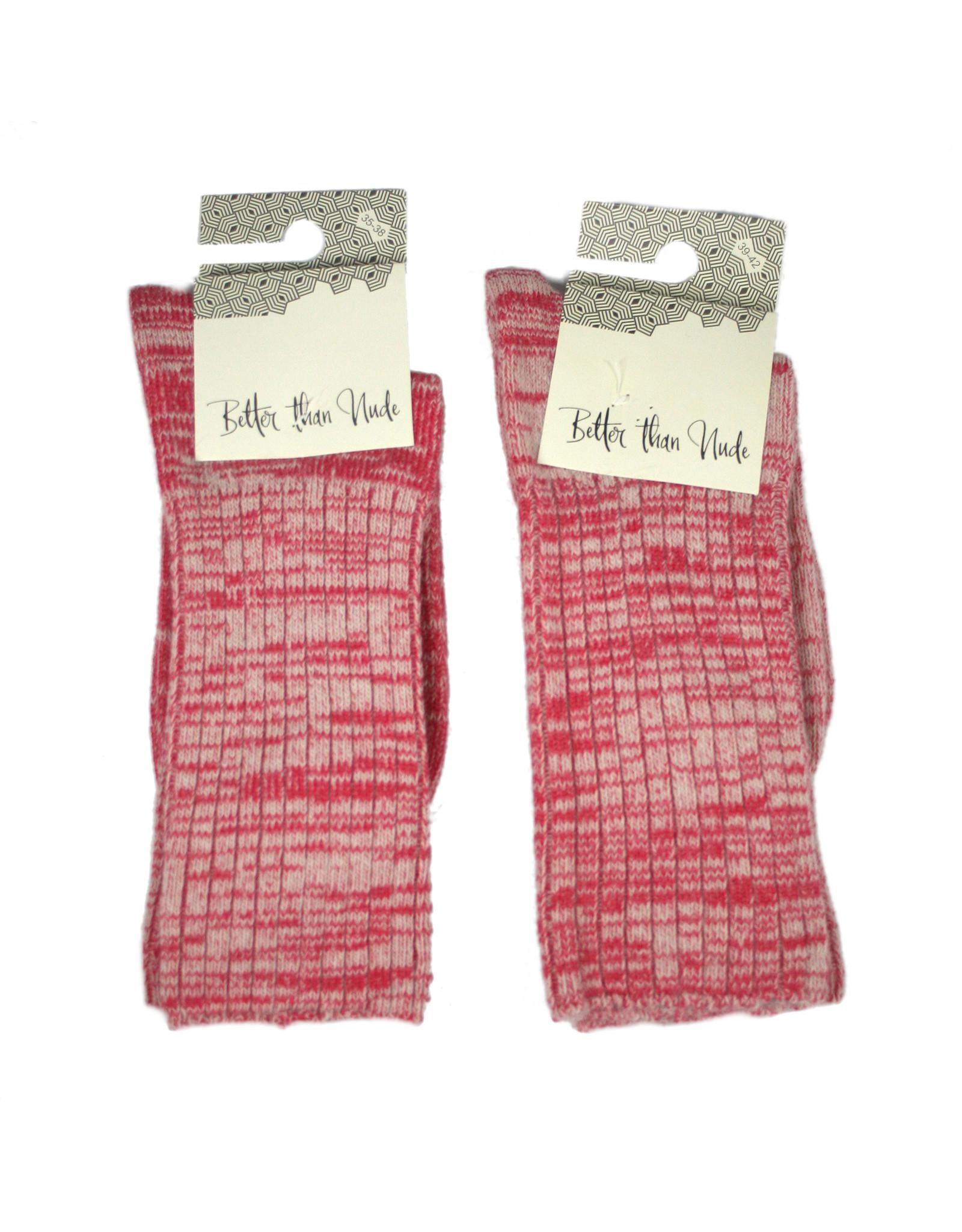 bls organic socks wool and cotton socks, melange yarn