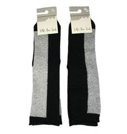 bls organic socks Wool-cotton socks, block stripes
