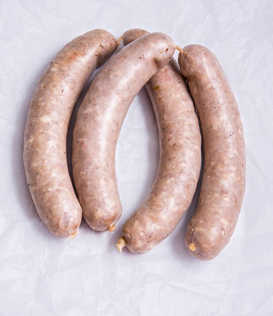 Bratwurst 2 Paar x 150 g,Grillgenuss,Pöllauer,Schweinefleisch,Regional,Rindfleisch,Speck
