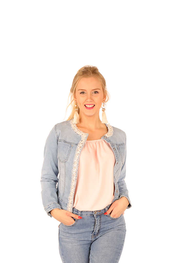 200VST0014  Vest pad ruban Jeans