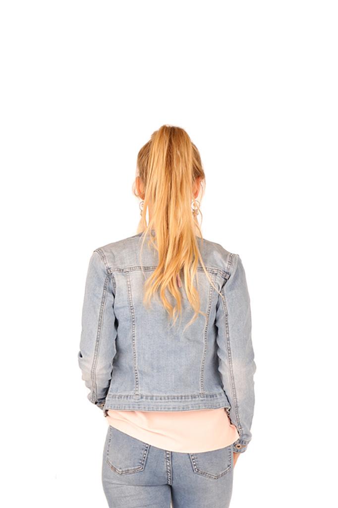200VST0013 blouson pad volant perles Jeans