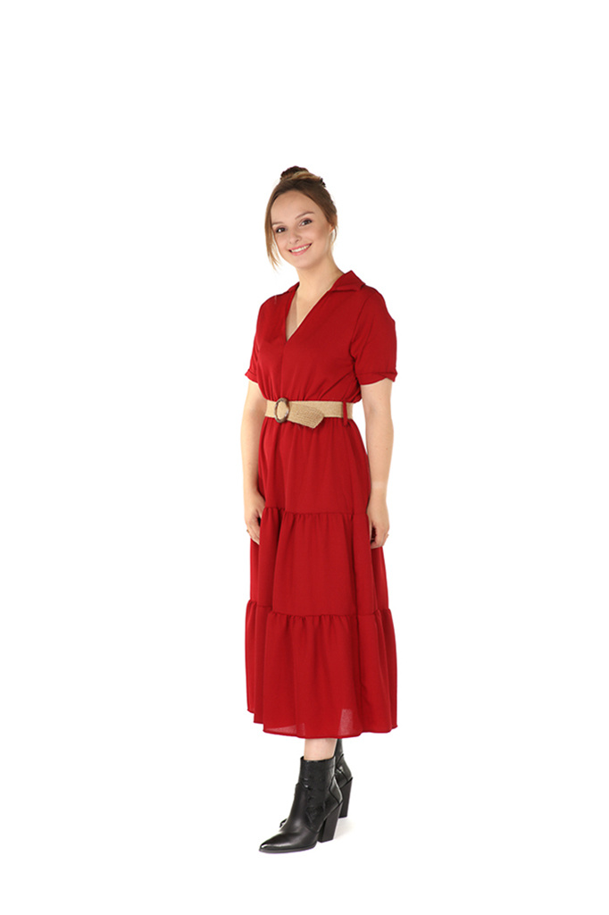 300ROB0010 Lange jurk stroken TU