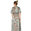 """300ROB0008 Lange jurk bloemen print Blauw/Groen    """"NEW IN"""""""