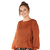 300PUL0000  Pullover cropped ajour Toffee TU