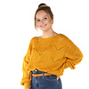 """300PUL0000  Pullover cropped ajour Mosterd TU  """"NEW IN"""""""