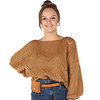 300PUL0000  Pullover cropped ajour Camel TU