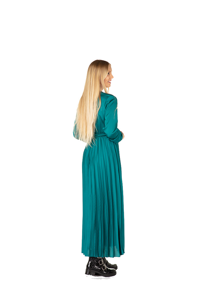 "300ROB0041 Lange cache-coeur jurk in satijn  TU  Canard  ""NEW IN"""