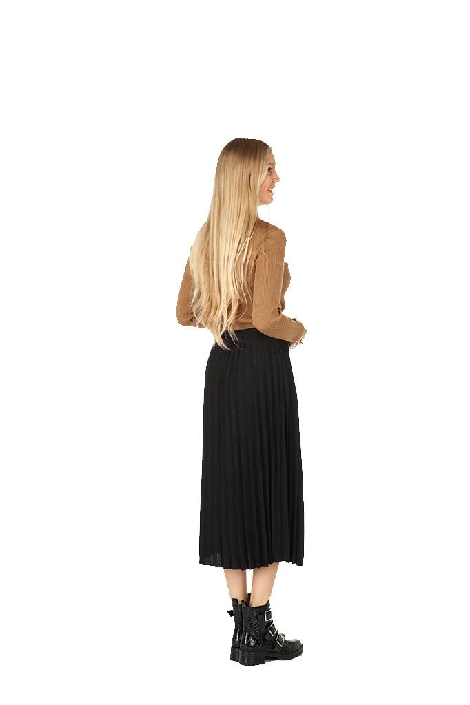 300JUP0010 Rok plissee 7/8 Black