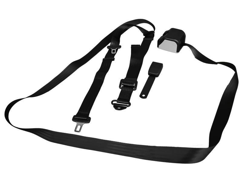 3-Puntsgordel voor rolstoelgebruiker lang Unwin SBT-08361-A, speciaal voor 'Freedom Van' bodemverlagingen