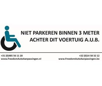 3 meter afstand sticker (tbv rolstoelauto/rolstoelbus)