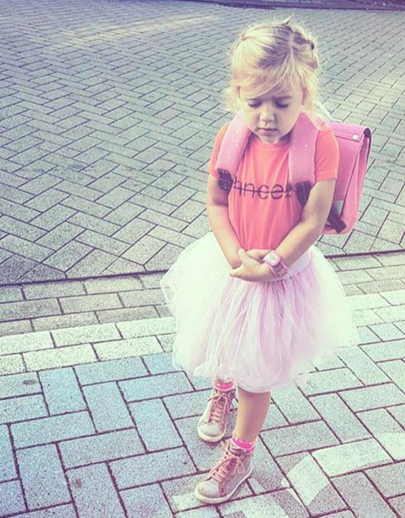 CDKN_kids Fel oranje t shirt voor stoere meiden
