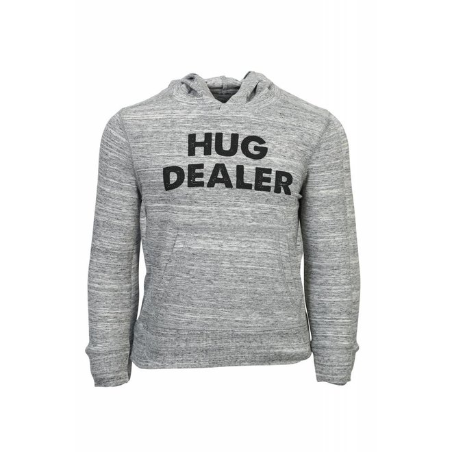 Heather grey tshirt met lange mouwen en capuchon