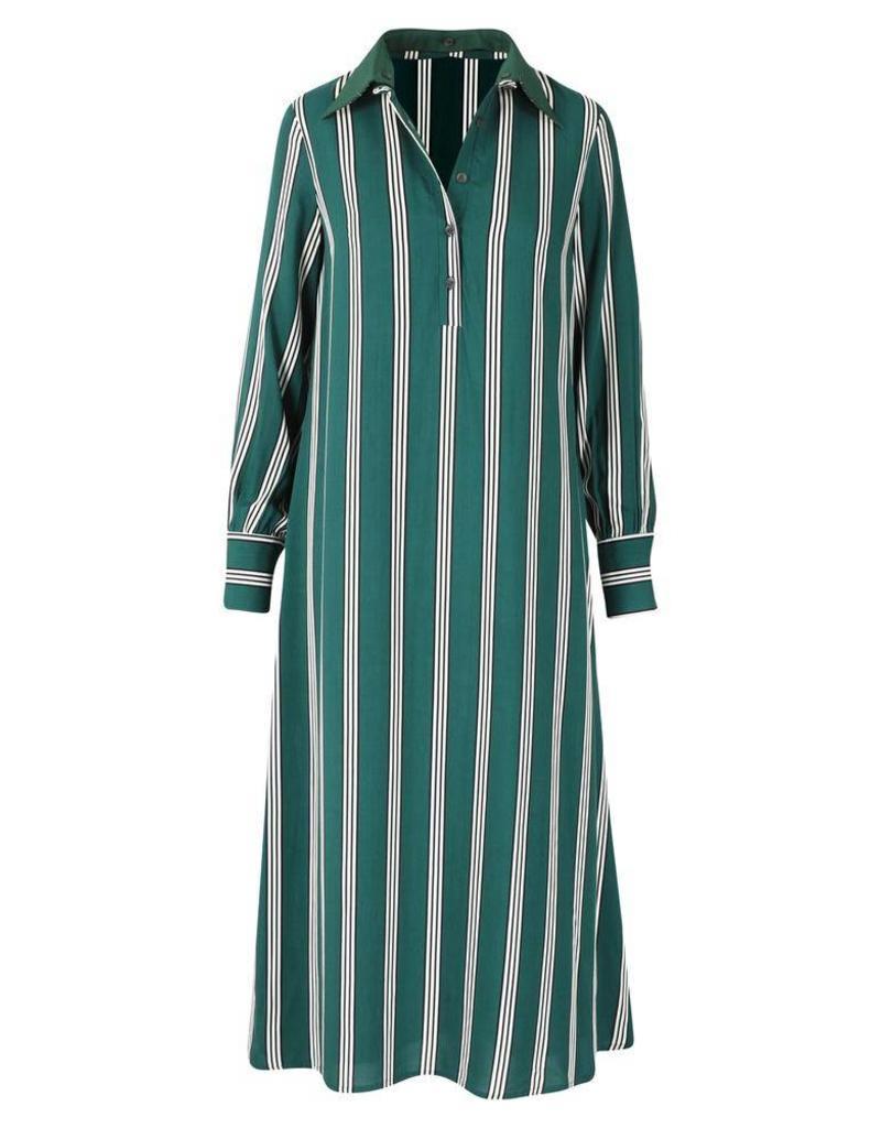 Mon Col Anvers Mon Col - Polly jean dress green stripe
