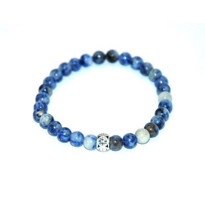 CASCADE - armband - blue spot stone