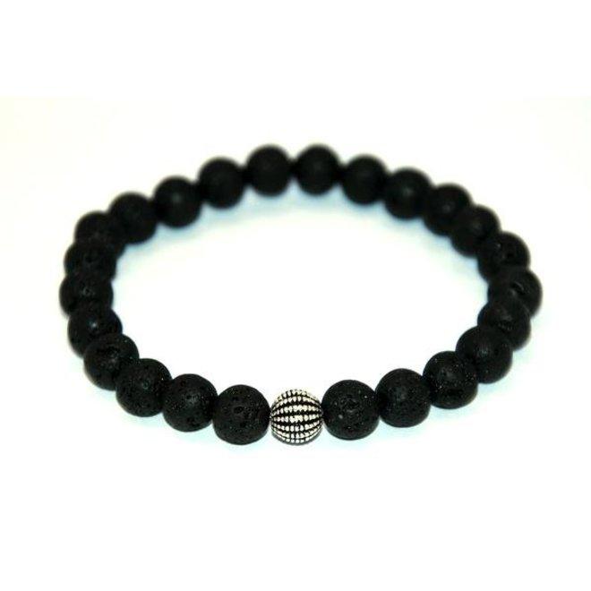 CASCADE - bracelet - lava stone - 8mm