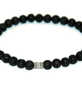 Cascade Bracelets Cascade - Lava stone - 6mm