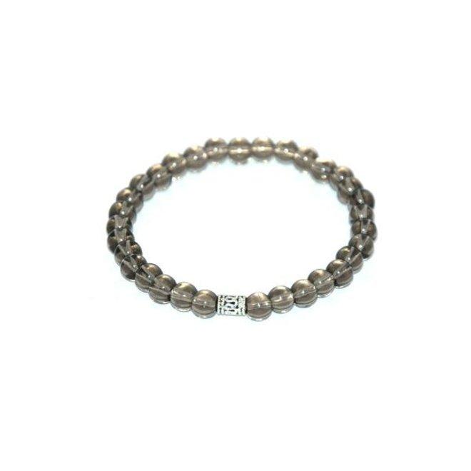 CASCADE - bracelet - smokey quartz