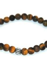 Cascade Bracelets Cascade - Tiger eye frosted - 6mm -