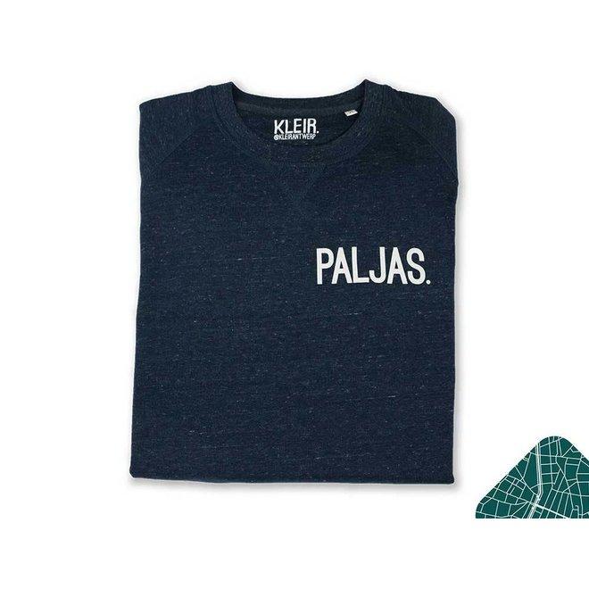 Paljas. - blauwe trui