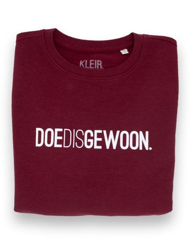 Kleir! KLEIR. - DOEDISGEWOON. Trui