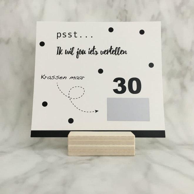 STUDIJOKE - 30 years - scratch card