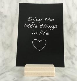 Studijoke Studijoke - Postkaart enjoy the little thing in life (kraft)