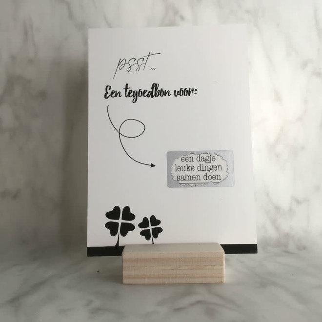 Studijoke - Kraskaart een tegoedbon voor een leuk dagje