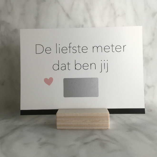 Studijoke -  liefste meter - kraskaart