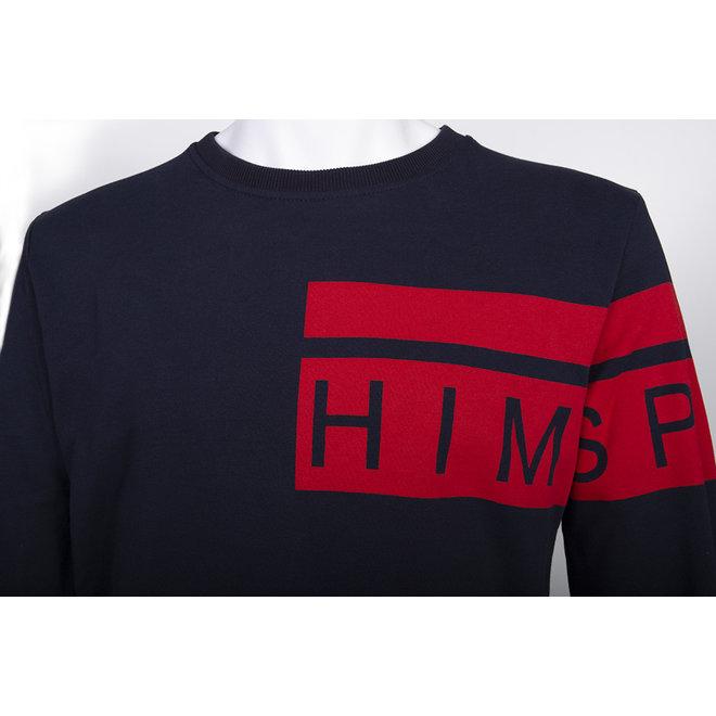 Himspire - sweater donkerblauw, rood