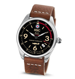 RSC Pilot Watches RSC - Hawker Hurricane dark brown leather