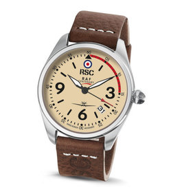 RSC Pilot Watches RSC - Mk IX dark brown leather (±3mm thick)